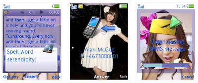 前田敦子x板野友美SonyEricsson手機主題for Elm/Hazel/Yari/W20﹝240x320﹞