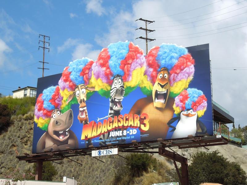 Madagascar 3 special extension movie billboard