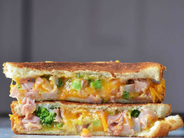 A New Lunch for my Boys. Ham and Broccoli Grilled Cheese Sandwiches.
