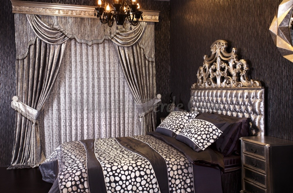 gri siyah yatak odasi perde modeli elif perde. Black Bedroom Furniture Sets. Home Design Ideas