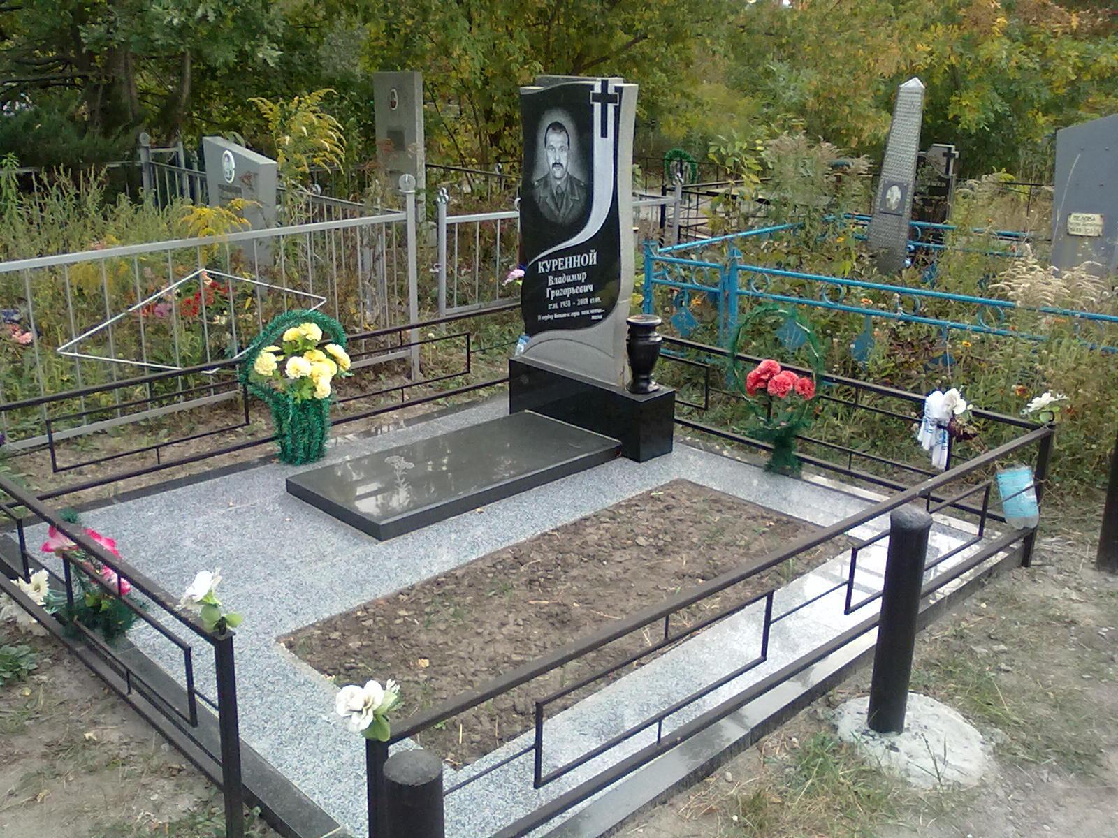 Оформление могил своими руками на кладбище фото