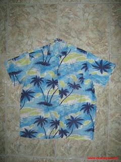 Áo sơ mi Hawaii hoa văn cây dừa đẹp