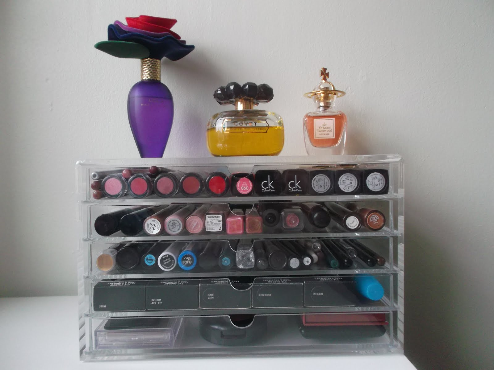 Muji acrylic makeup storage drawers : Midlife Crisis Beauty Addict