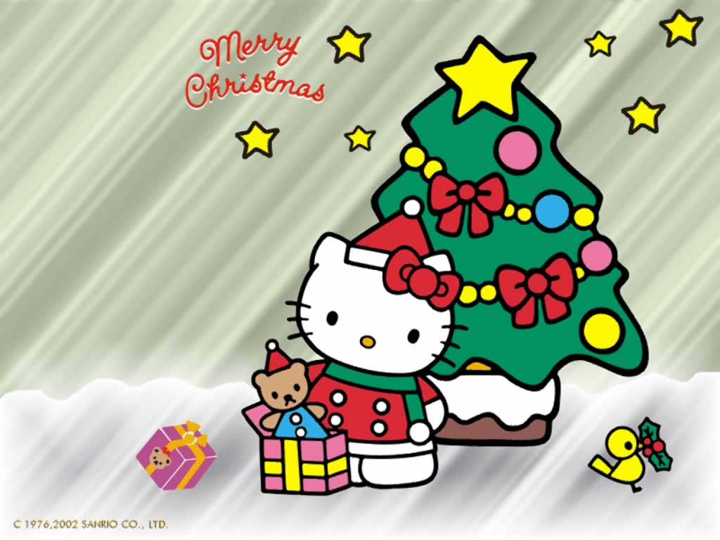 Hello Kitty Merry Christmas Wallpaper hd gallery