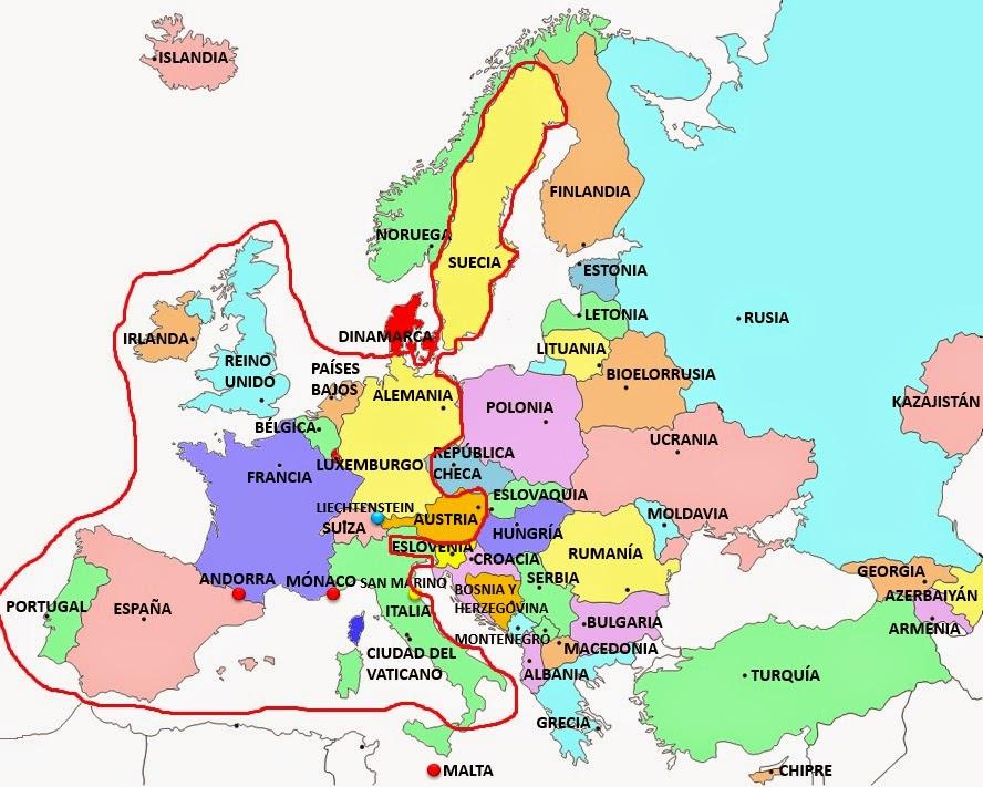 Mapa De Espaa Francia E Italia