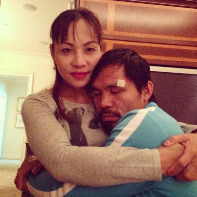 Manny Pacquaio hugs older sister Sidra