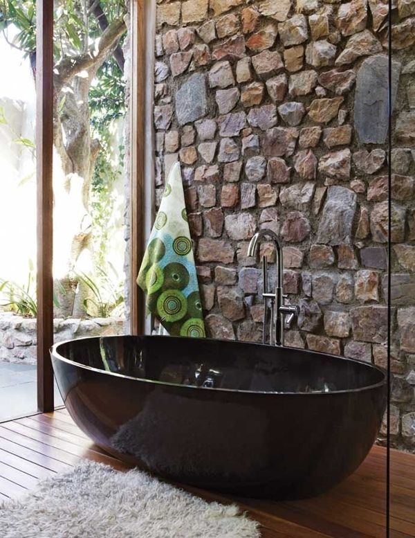 Ba o en piedra colores en casa - Paredes piedra natural ...