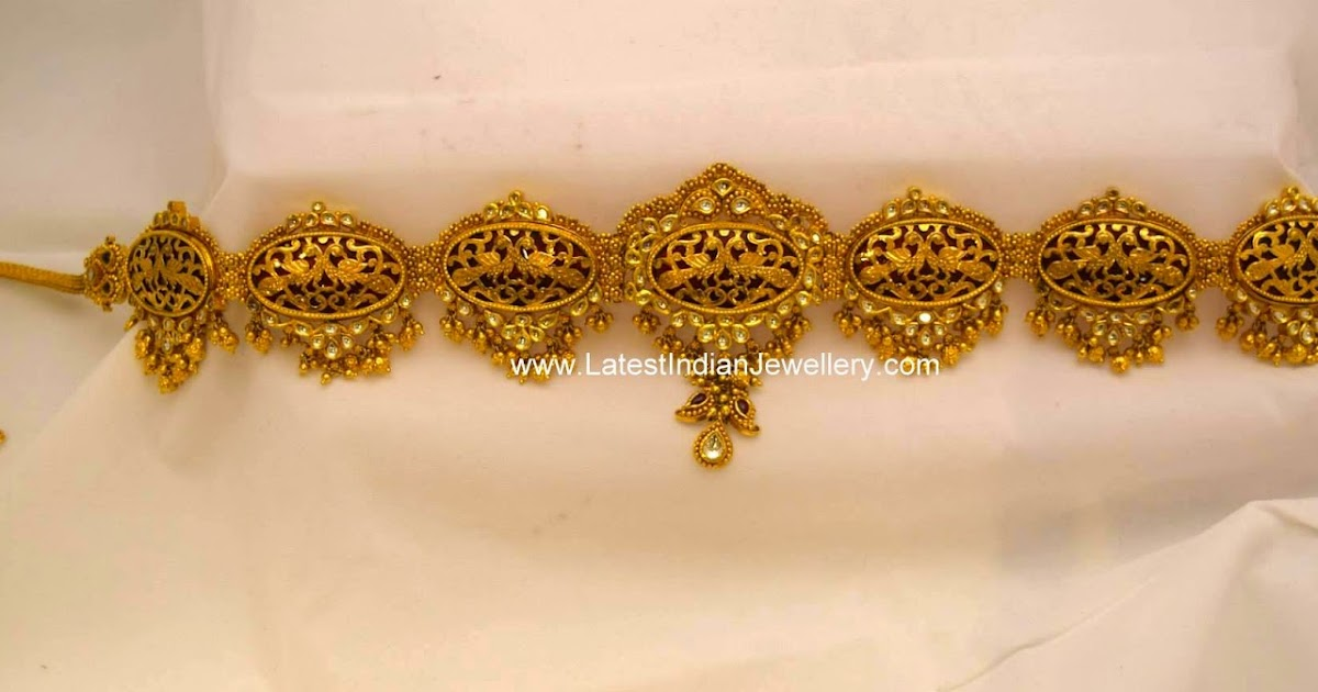 Fancy Antique Kundan Vaddanam