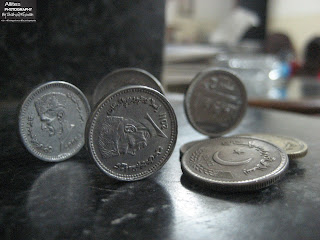 Coins of Pakistan : Re.1, Rs.2 and Rs.5, The world through a lens, Photography by Shahzil Rizwan