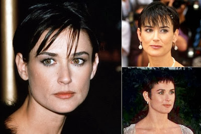 Demi Moore short haircut with bangs