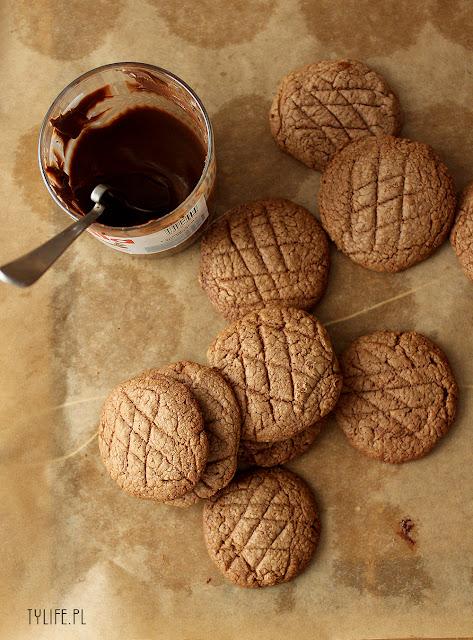 ciastka, ciasteczka nutella, ciastka z nutellą, ciasteczka z nutellą, cookies with nutella, nutella cookies,