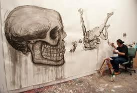 El artista pintando