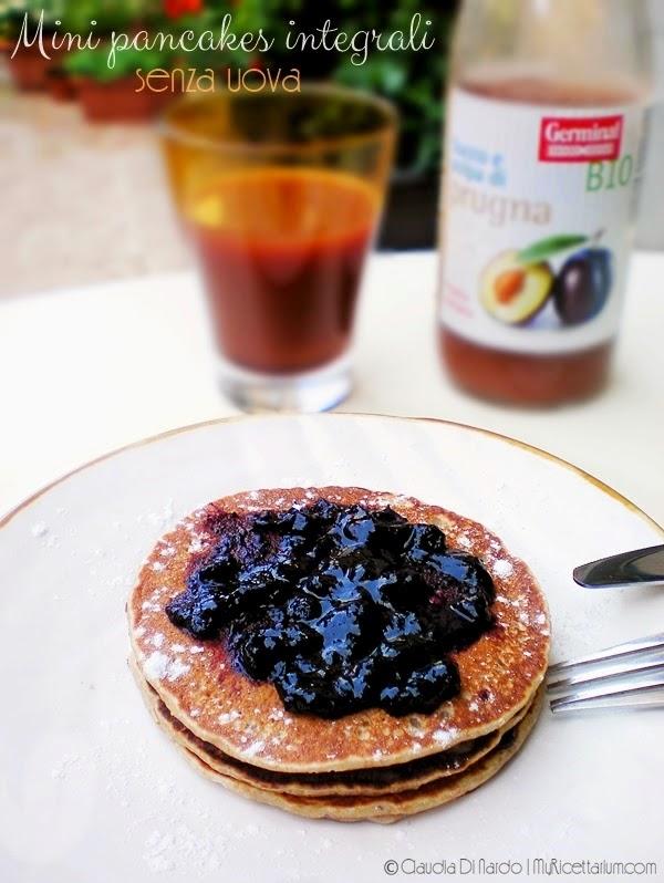 Mini pancakes integrali senza uova