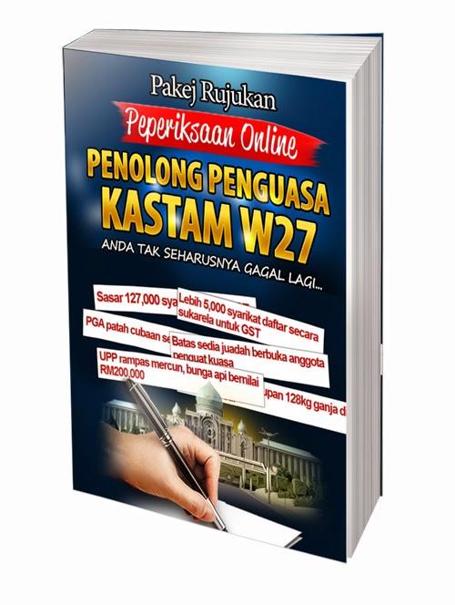 Contoh Soalan Online Penolong Penguasa KASTAM W27