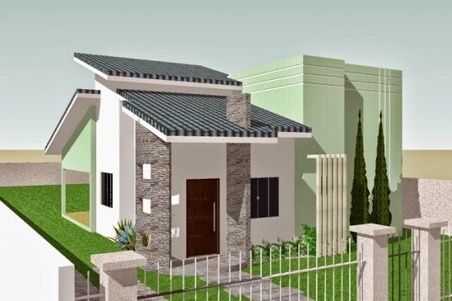 Casa fina decor fachadas de casas simples bonitas e for Fachadas pequenas