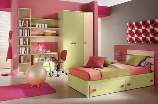 Dormitorios para ni os de dise o minimalista y colorido for Different types of bedroom designs