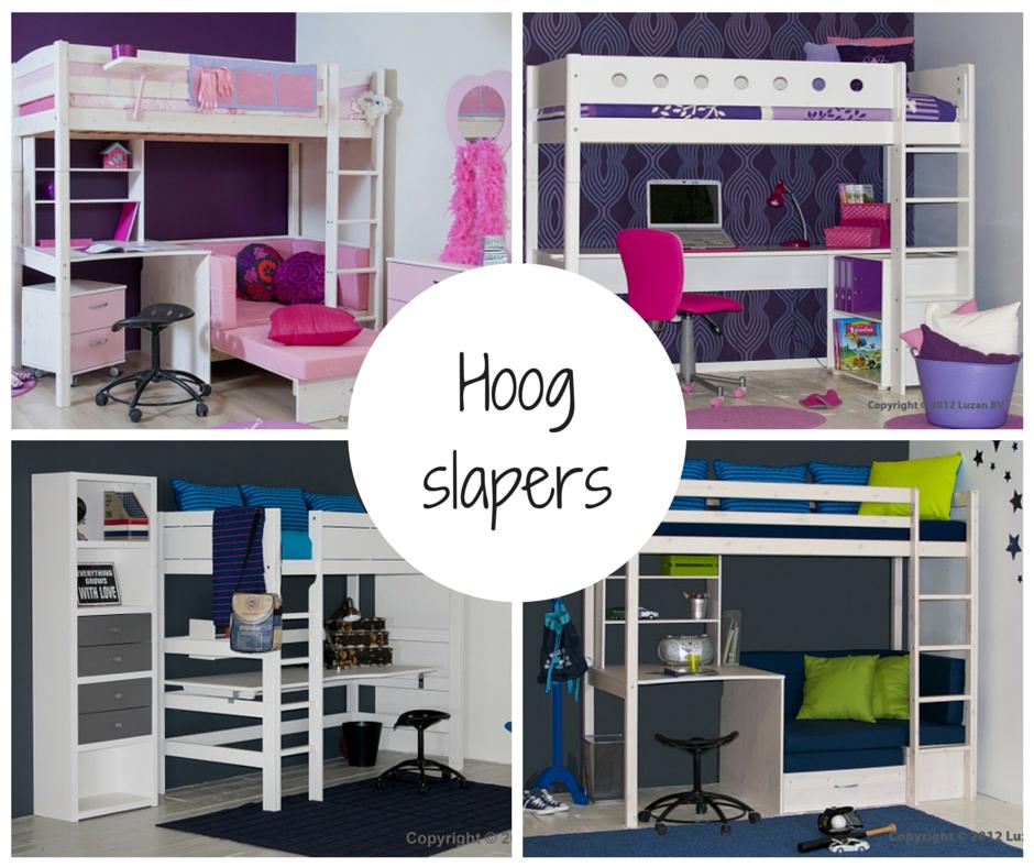 Bedden en meubels voor een tienerkamer - Hoogslaper tiener met kantoor en opslag ...