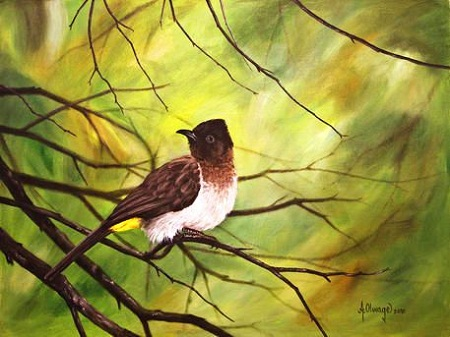 Lukisan Burung Kutilang