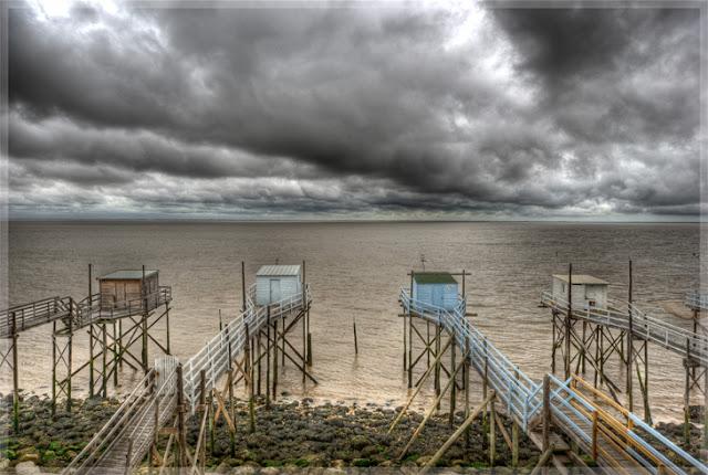 photo hdr paysage, cabanes de pêcheurs, carrelets, estuaire gironde, photo hdr fabien monteil