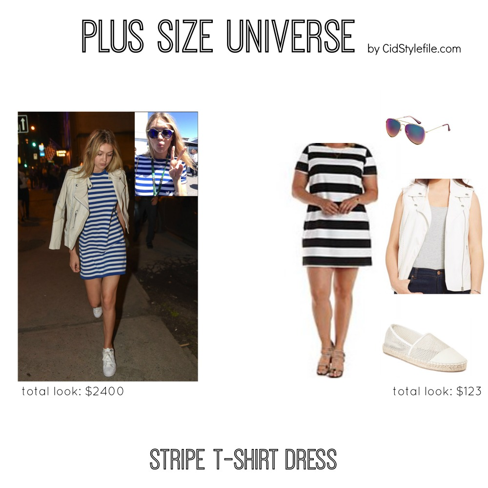 Cid Style File: Plus Size Univese: Stripe T-Shirt Dress