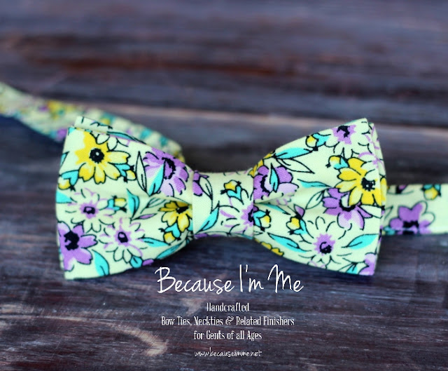 flower sack floral bow ties for boys and men