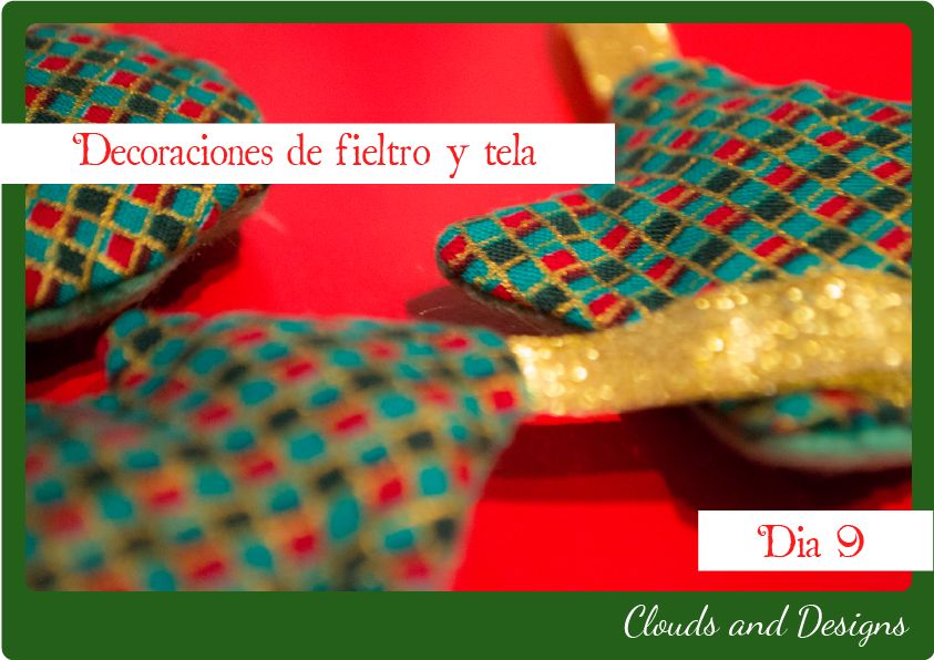 Adviento bloggero dia 9 Decoraciones fieltro tela