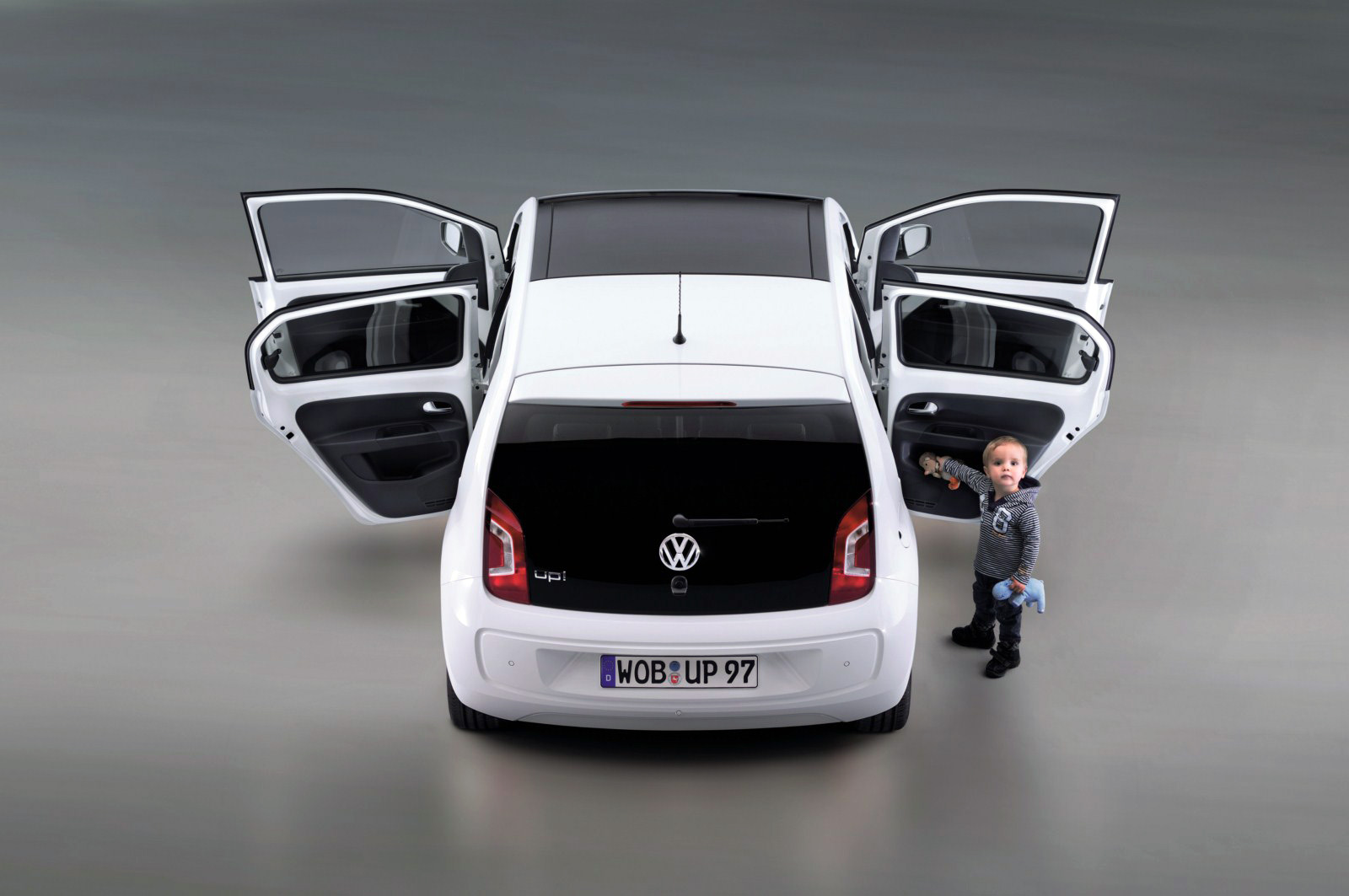 Five door vw up official photos garage car for 1 5 car garage door