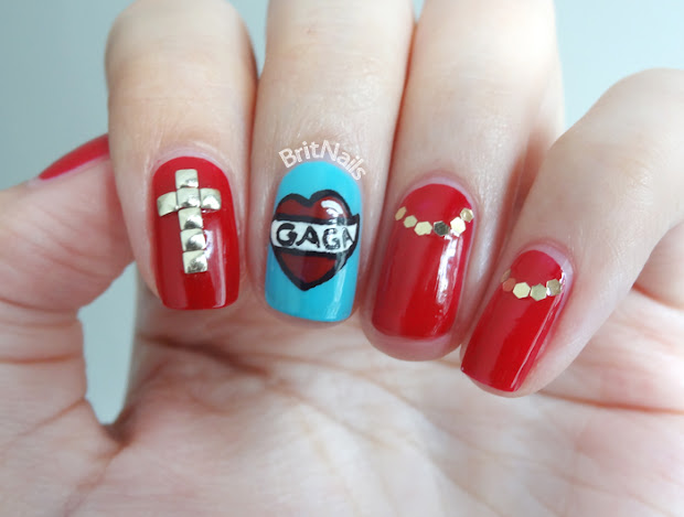 lady gaga nail art brit nails