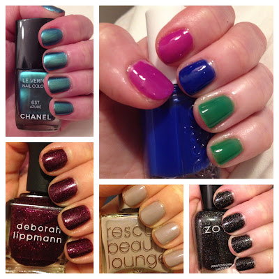 best nail polishes of 2013, Chanel Azure, Essie Summer 2013 Neons Collection, Deborah Lippmann, Deborah Lippmann Good Girl Gone Bad, Rescue Beauty Lounge, Zoya, nail polish, nail varnish, nail lacquer, manicure, mani monday, #manimonday, nails, My 2013 In Nails, nail polish roundup