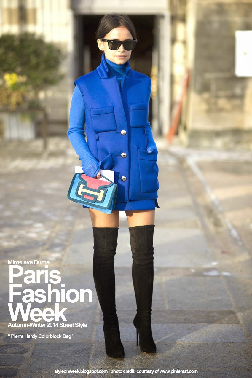 Paris Fashion Week Autumn-Winter 2014 Street Style - Pierre Hardy Colorblock Bag