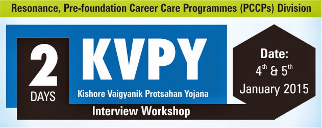 KVPY Interview Round Workshop @ Resonance PCCP