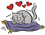 why cats purr loud
