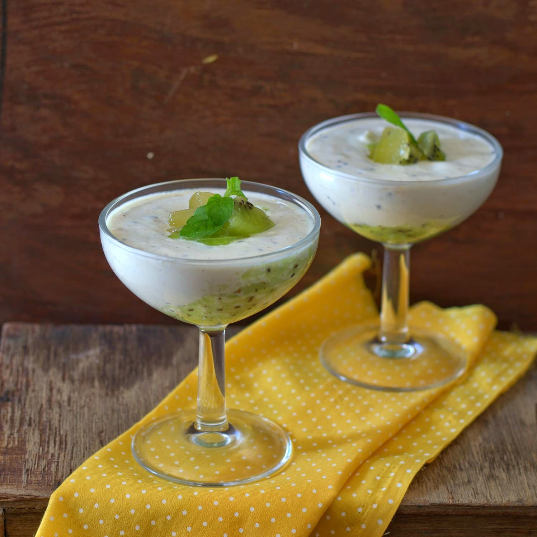 Kiwi Quark Mousse
