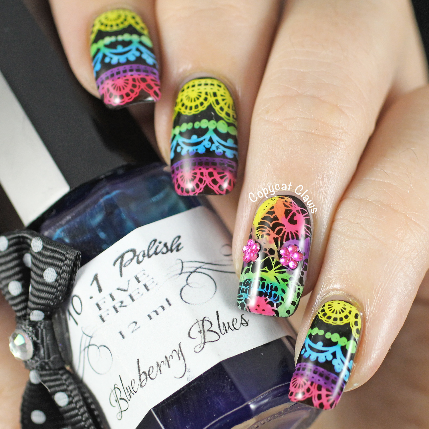 Copycat claws lacy sugar skull nail stamping prinsesfo Image collections