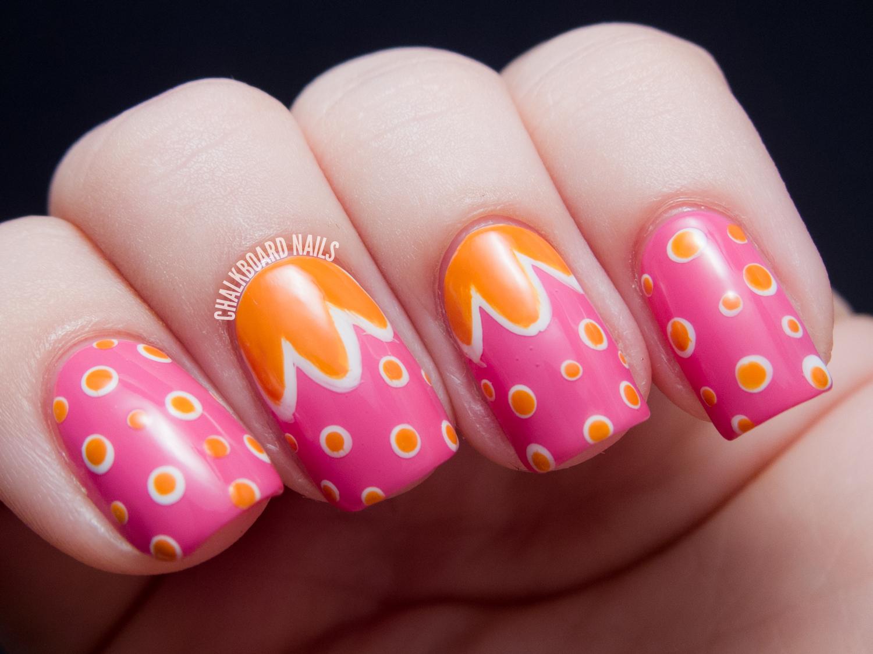 Mod Blossoms Nicole By Opi Tink Nail Art Chalkboard Nails Nail