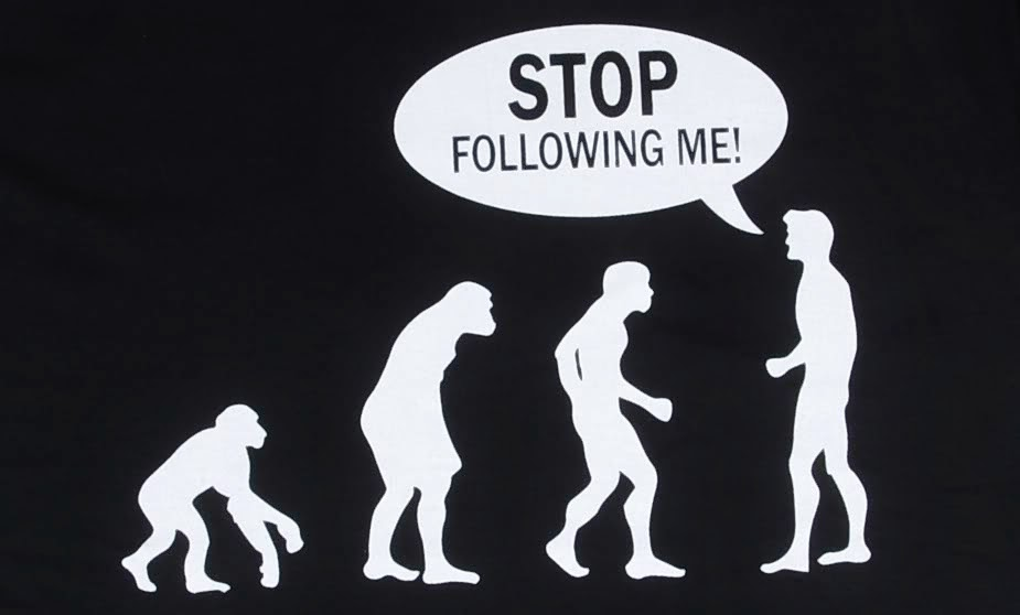 Funny Human Evolution