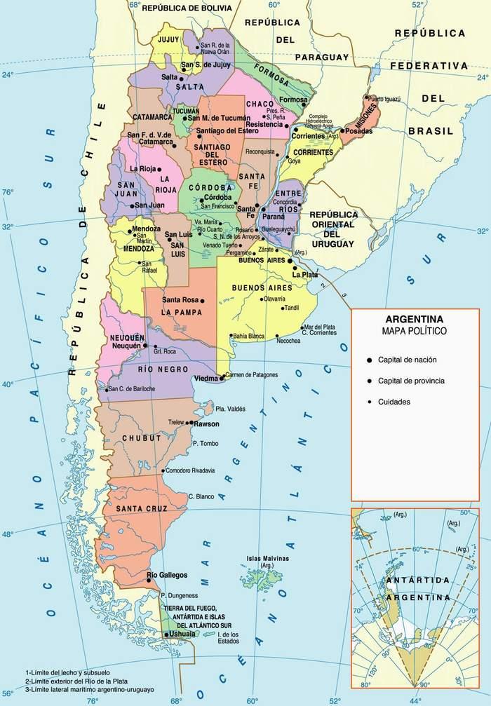 mapa politico de la republica argentina republica argentina para