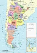 Mapa político de la Republica Argentina (mapa politico argentina)