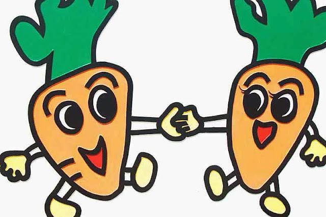 mascots, carrots