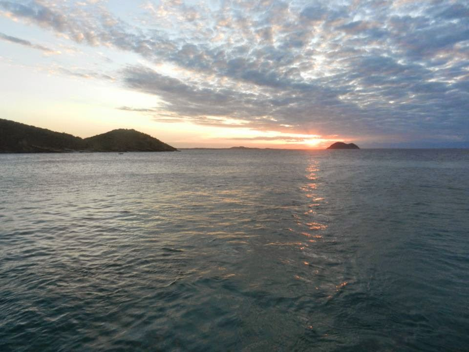 Sunset from the boat inBuzios