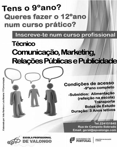 Curso profissional de Comunicação, Marketing, Relações Públicas e Publicidade em Valongo (com bolsa de estudo)