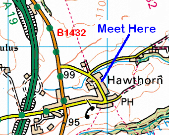 Map of the Hawthorne area