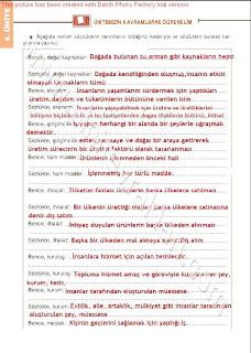 6. Sınıf Sosyal Bilgiler Altın Yayınları Öğrenci Çalışma Kitabı Cevapları Sayfa 88