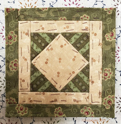 Dear Jane Quilt - Block C1 Trooper Green's Badge