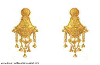 Pure Gold Earrings Designs For Girls
