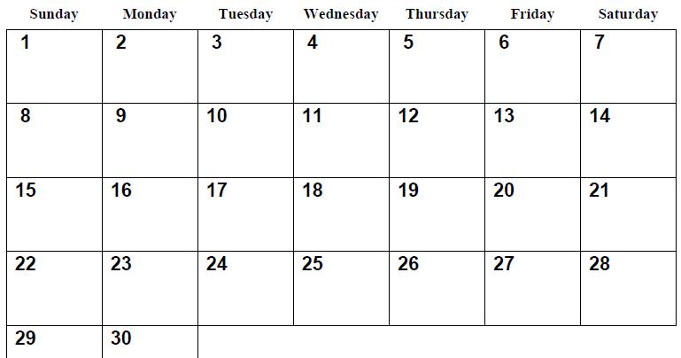 printable blank pdf june 2014 calendar