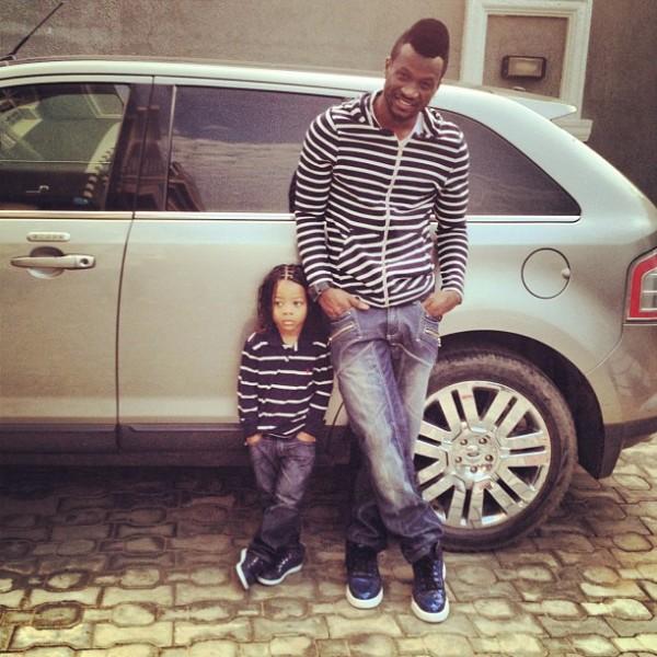 Lagos State Nigeria: Peter PSQUARE Okoye and Son Cameron Okoye