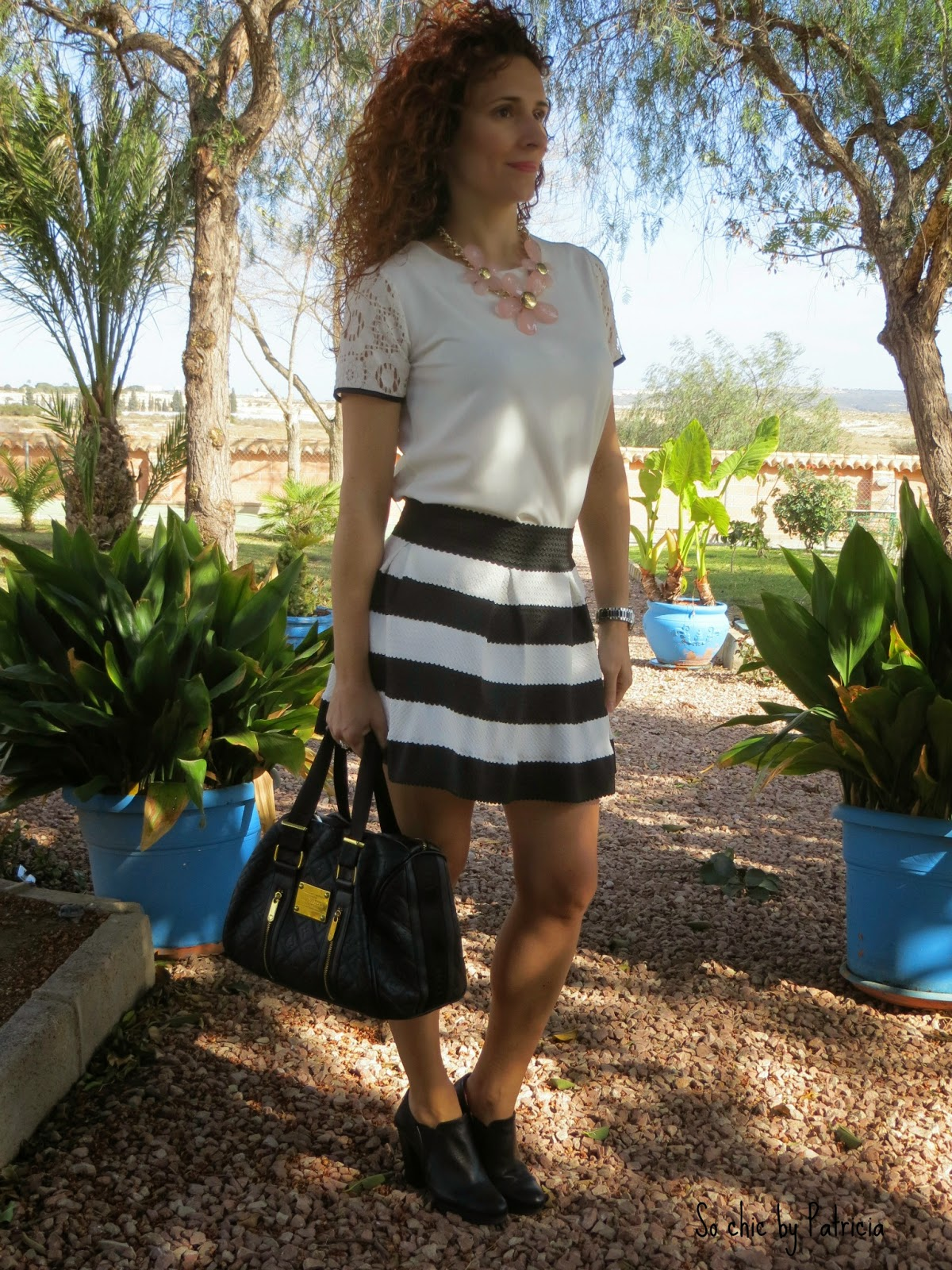 So chic by Patricia_Striped skirt