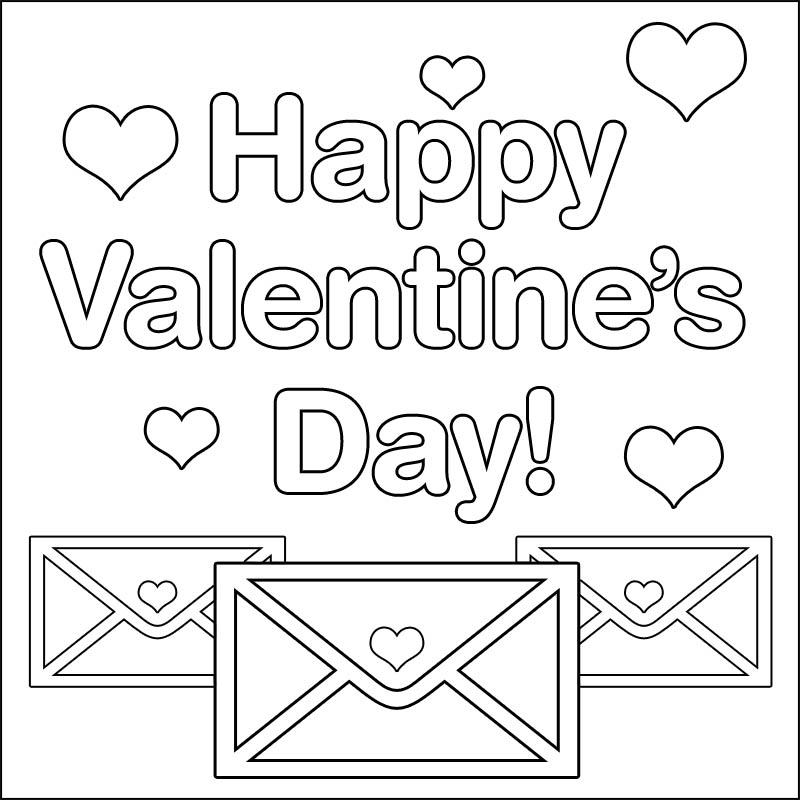 14 happy holiday valentines day coloring pages