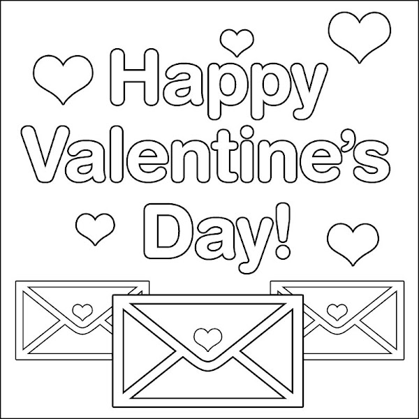 Happy Valentine's Day Coloring Pages
